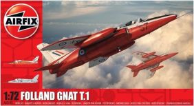 1/72 FOLLAND GNAT T.1 JET TRAINING AIRCRAFT MODEL KIT #A02105 BY AIRFIX