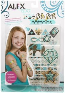 TOTALLY TEAL FAB FOIL TATTOOS-