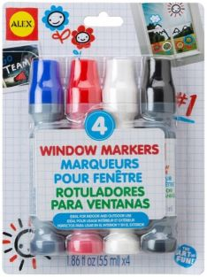 WINDOW MARKERS SET 4-PACK #741