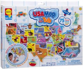 USA MAP IN THE TUB BATH TOY