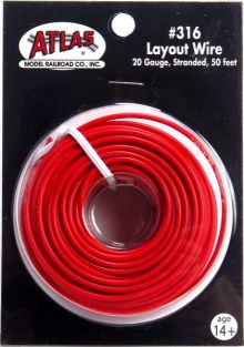 50' #20 STD LAYOUT WIRE RED