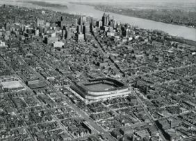 AERIAL VIEW OF BRIGGS STADIUM