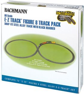 HO FIGURE 8 TRACK PACK STEEL