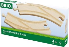 CURVED SWITCHING TRACKS-WOODEN