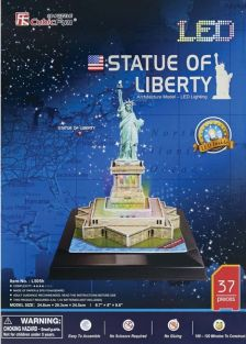 STATUE OF LIB. LED LIGHTED 37P