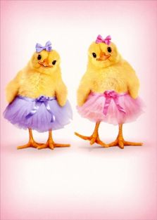 TWO CHICKS IN TUTUS EASTER