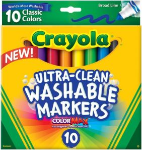CRAYOLA ULTRA-CLEAN MARKERS