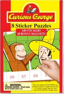 CURIOUS GEORGE STICKER PUZZLES