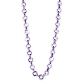 PURPLE CHAIN NECKLACE #N307 BY