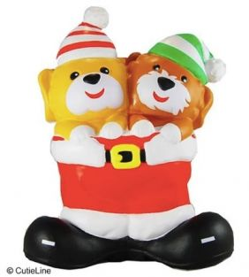 CHRISTMAS TWIN PUPPIES SQUISHY