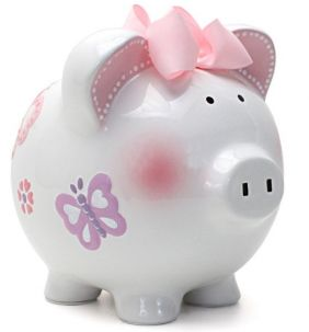 LARGE BUTTERFLY PIGGY BANK