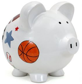 LARGE SPORTS PIGGY BANK #36822
