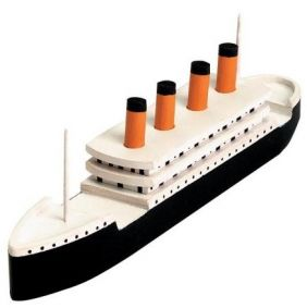 "TITANIC WOODEN KIT 7-1/4""X2"""