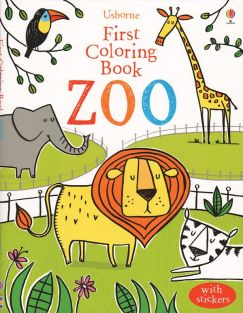 ZOO FIRST COLORING BOOK