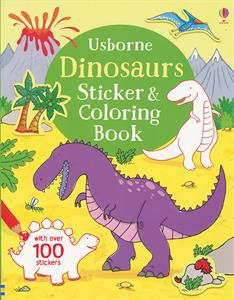 DINOSAURS STICKER & COLORING