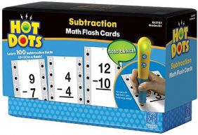 HOT DOTS MATH FLASH CARDS-SUBT