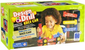 DESIGN & DRILL RACE CAR BUILDING SET