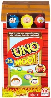 UNO MOO GAME #FFV32 BY MATTEL