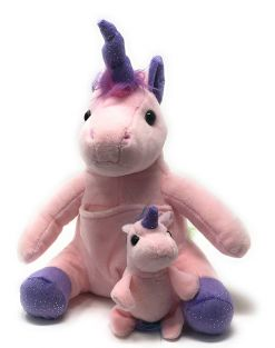 "UNICORN W/BABY 18"" PLUSH"