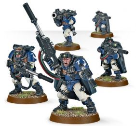 SPACE MARINE SCOUTS WITH SNIPE