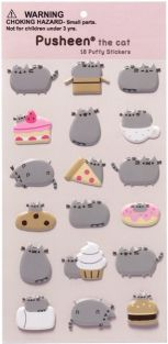 PUSHEEN PUFFY STICKERS-FOOD