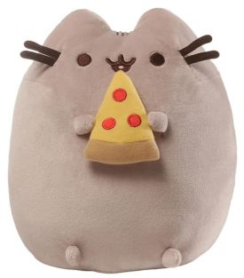 "PUSHEEN WITH PIZZA 9.5"" PLUSH"