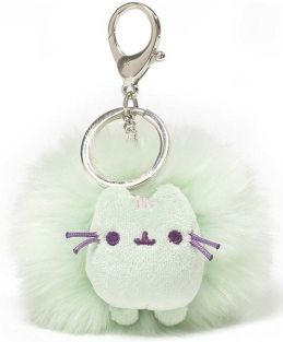 PUSHEEN PASTEL POOF KEYCHAIN