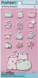 PUSHEEN PUFFY STICKERS-PASTEL
