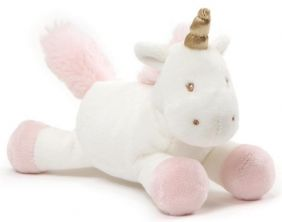 "LUNA UNICORN 7"" PLUSH RATTLE"