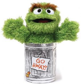 "OSCAR THE GROUCH 10"" SESAME ST"