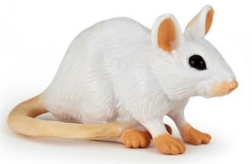 WHITE MOUSE FIGURE #50222 BY P