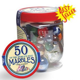 TUB OF 50 MARBLES #2050000 BY
