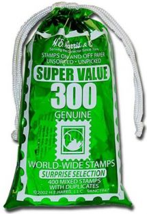 MIXED BAG OF 300 WORLD STAMPS