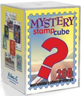 MYSTERY STAMP CUBE 200 WORLD