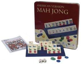 MAHJONG GAME IN TIN TRAVEL BOX