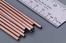 "1/8"" X 12"" COPPER TUBE #120 BY K&S"
