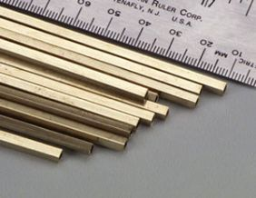 "1/8"" X 12"" SQUARE BRASS TUBE #151 BY K&S"