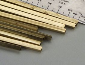 "5/32"" X 12"" SQUARE BRASS TUBE #152 BY K&S"
