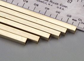 """3/16""""  X 12"""" SQUARE BRASS TUBE #153 BY K&S"""