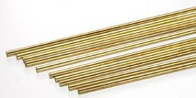 "1/8"" X 12"" SOLID BRASS ROD #164 BY K&S"