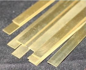 ".016"" X 3/4"" X 12"" BRASS STRIP"