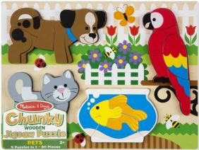 PETS CHUNKY WOODEN JIGSAW PUZZ