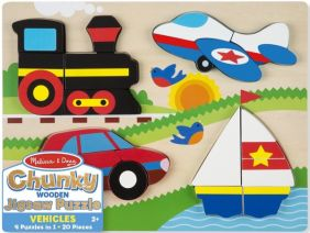 VEHICLES CHUNKY WOODEN JIGSAW