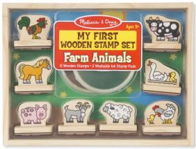 FARM ANIMALS-MY FIRST WOODEN STAMP SET