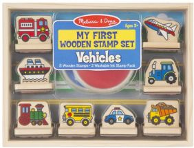 VEHICLES-MY FIRST WOODEN STAMP