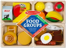 FOOD GROUPS WOODEN PLAY FOOD S