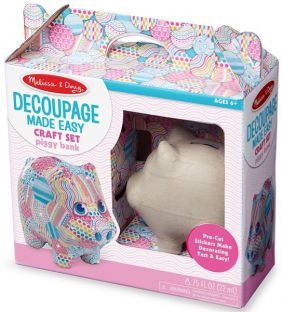 PIGGY BANK-DECOUPAGE MADE EASY