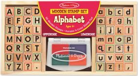 ALPHABET WOODEN STAMP SET #355