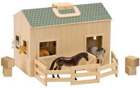 FOLD & GO MINI WOODEN STABLE