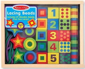 WOODEN LACING BEADS IN A BOX